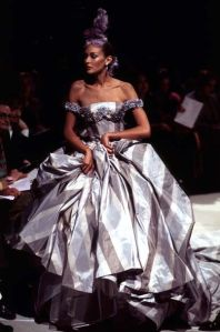 1996 John Galliano for Givenchy mimics classic stylings of Givenchy.